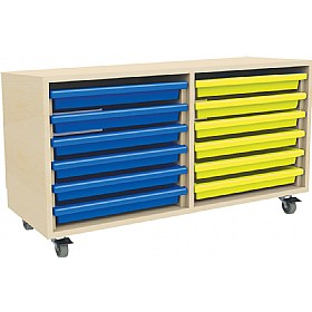 12 Tray Mobile Art & Paper Storage Unit £194 - Education Furniture