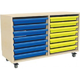 14 Tray Mobile Art & Paper Storage Unit £0 - Education Furniture