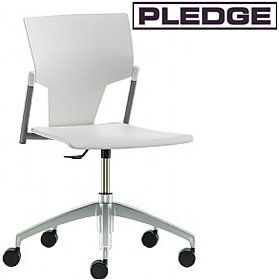 Pledge Ikon Polypropylene Swivel Conference Chair £115 - Office Chairs