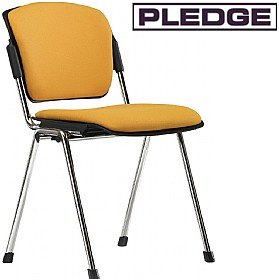 Pledge Mia Upholstered 4 Leg Conference Chair £106 - Office Chairs