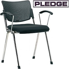 Pledge Mia 4 Leg Conference Armchair £116 - Office Chairs