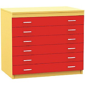 6 Drawer A1 Plan Storage Chest £0 - Education Furniture