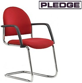 Pledge Arena Rounded Back Cantilever Conference Chair £102 - Office Chairs