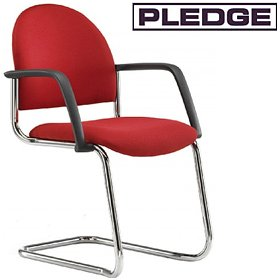 Pledge Arena Rounded Back Stackable Cantilever Conference Chair £109 - Office Chairs
