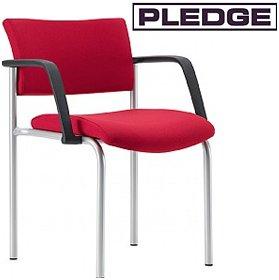 Pledge Arena Square Back 4 Leg Conference Chair £102 - Office Chairs