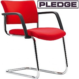 Pledge Arena Square Back Stackable Cantilever Conference Chair £106 - Office Chairs