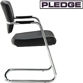 Pledge Key Low Back Cantilever Conference Chair £150 - Office Chairs