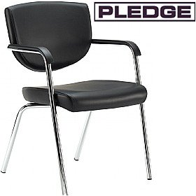 Pledge Key Low Back 4 Leg Conference Chair £164 - Office Chairs