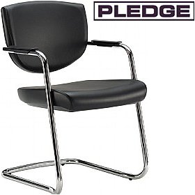 Pledge Key Low Back Stackable Cantilever Conference Chair £170 - Office Chairs