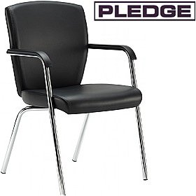Pledge Key Full Back 4 Leg Conference Chair £160 - Office Chairs