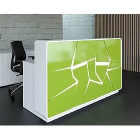 Urban Graffiti Reception Desks £3901 - Reception Furniture