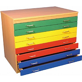 8 Drawer Multi-Coloured Plan Chest £458 - Education Furniture
