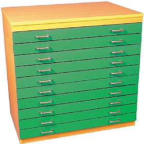 10 Drawer A1 Plan Storage Chest £0 - Education Furniture