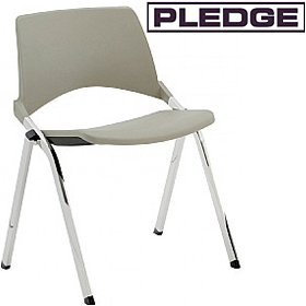 Pledge La Kendo Polypropylene Stackable 4 leg Conference Chair £112 - Office Chairs