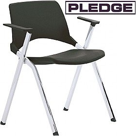Pledge La Kendo Polypropylene Stackable 4 Leg Conference Chair With Arms £125 - Office Chairs