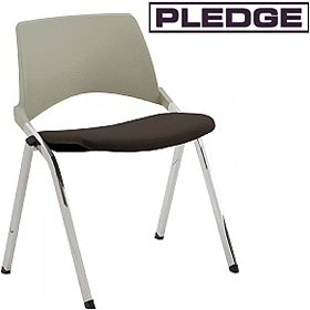 Pledge La Kendo Upholstered Stackable 4 Leg Conference Chair £127 - Office Chairs