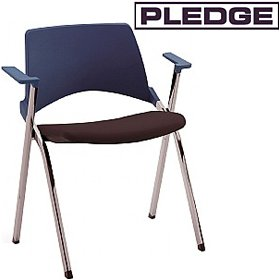 Pledge La Kendo Upholstered Stackable 4 Leg Conference Chair With Arms £140 - Office Chairs