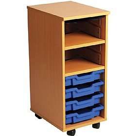 4 Tray Single Bay Mobile Storage Unit £0 - Education Furniture