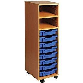 8 Tray Single Bay Mobile Storage Unit £0 - Education Furniture