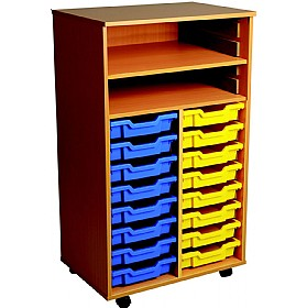 16 Tray Double Bay Mobile Storage Unit £0 - Education Furniture