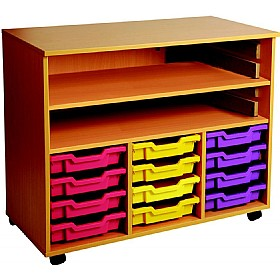 12 Tray Triple Bay Mobile Storage Unit £212 - Education Furniture