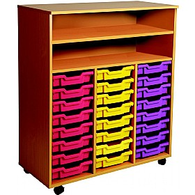 24 Tray Triple Bay Mobile Storage Unit £0 - Education Furniture