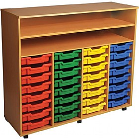 32 Tray Quad Bay Mobile Storage Unit £365 - Education Furniture
