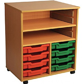8 Tray Double Bay Mobile Storage Unit £0 - Education Furniture