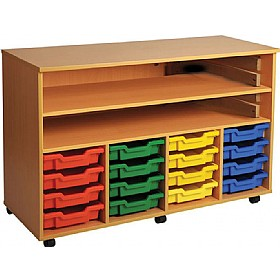 16 Tray Quad Bay Mobile Storage Unit £0 - Education Furniture
