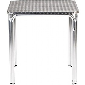 Aluminium Bistro Square Stacking Table £77 - Bistro Furniture