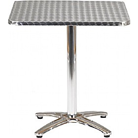 Aluminium Bistro Square Table £77 - Bistro Furniture
