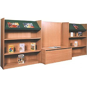 Nexus Library Bench Seat Combination Bookcases £780 - Education Furniture