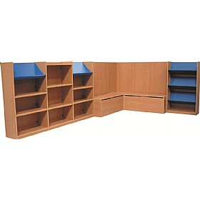 Nexus Large Library Corner Combination Bookcases £0 - Education Furniture