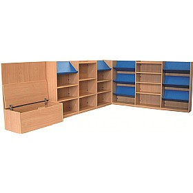 Nexus Extra Large Library Corner Combination Bookcases £0 - Education Furniture