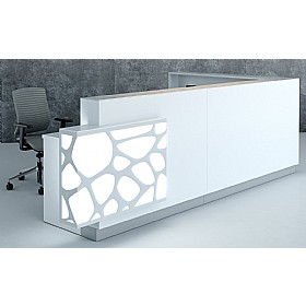 Minerals Acute Reception Desk £3613 - Reception Furniture