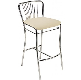 Neron Hocker Faux Leather Bar Stools (Pack of 4) £57 - Bistro Furniture