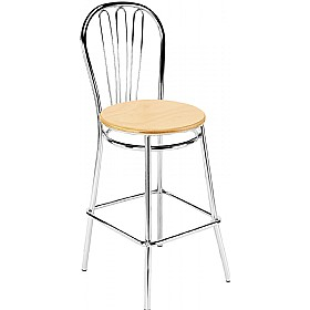 Vega Hocker Wooden Bar Stools (Pack of 4) £70 - Bistro Furniture