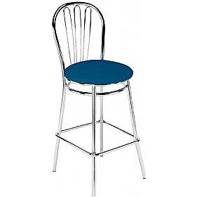 Vega Hocker Faux Leather Bar Stool (Pack of 4) £60 - Bistro Furniture