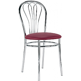 Venus Faux Leather Bistro Chairs (Pack of 4) £44 - Bistro Furniture