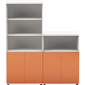 Oxide High Gloss Combination Office Cupboards £514 - Office Cupboards