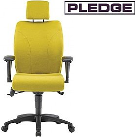 Pledge Ethos Medium Back Posture Chair With Headrest £497 - Office Chairs