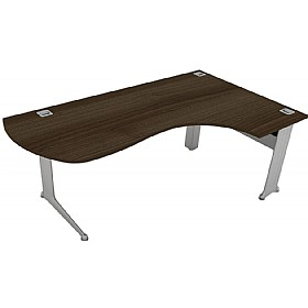 Elite Kassini Executive Radius Ergonomic Desks £727 - Office Desks