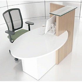 Zero Compact Reception Desk £822 - Reception Furniture