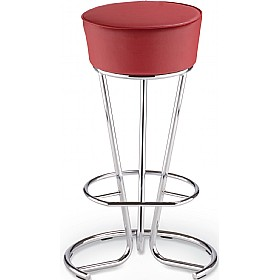 Pinacolada Hocker Faux Leather Bar Stools (Pack of 4) £105 - Bistro Furniture