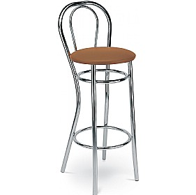 Adria Hocker Faux Leather Bar Stools (Pack of 4) £58 - Bistro Furniture