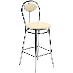 Tiziano Hocker Faux Leather Bar Stools (Pack of 4) £70 - Bistro Furniture