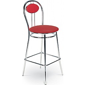 Tiziano Hocker Faux Velvet Bar Stools (Pack of 4) £70 - Bistro Furniture