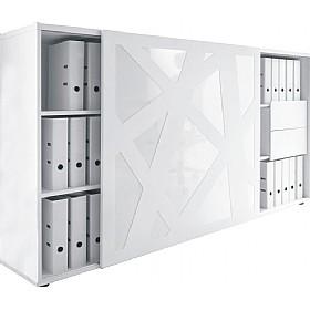 Horizons Sliding Door Storage Cabinet Office Cupboards