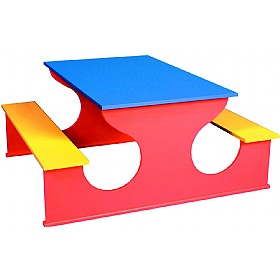 Rectangular Rainbow Bench Table £0 - Education Furniture