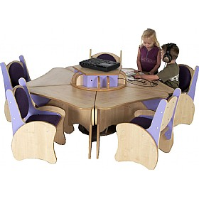 Pentagon Table & Chairs Listening Centre Bundle Deal £1335 - Education Furniture